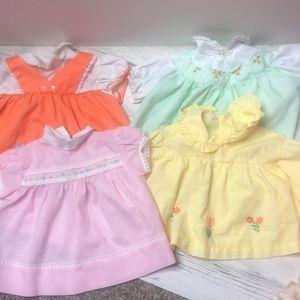 4 Vintage Baby Girl Dress Spring Summer Flowers